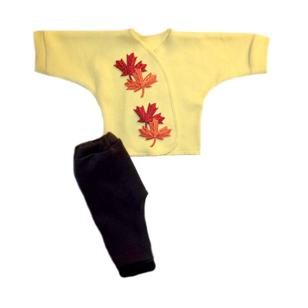 Falling Leaves Unisex Baby Shirt and Pants Outfit