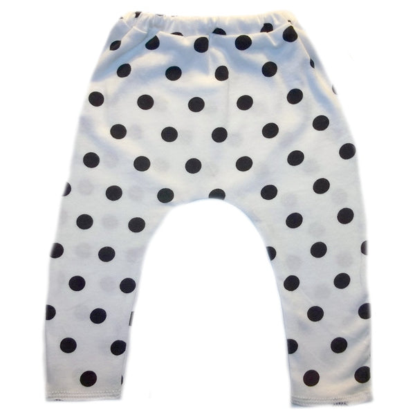 Baby Girls' Black Polka Dot Preemie and Newborn Leggings