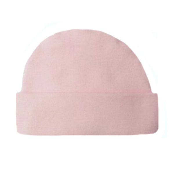 Newborn and Preemie Light Pink Capped Baby Girl Hat