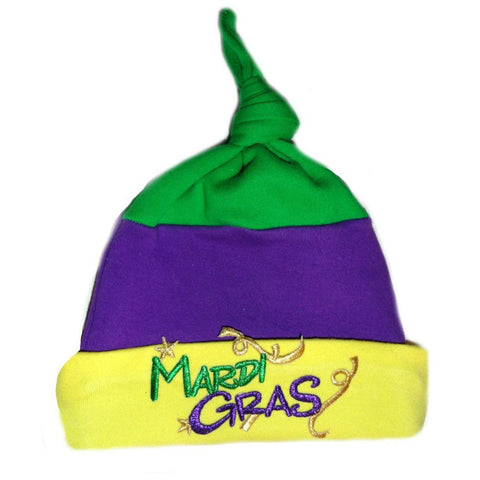 Unisex Baby Mardi Gras Knotted Hat