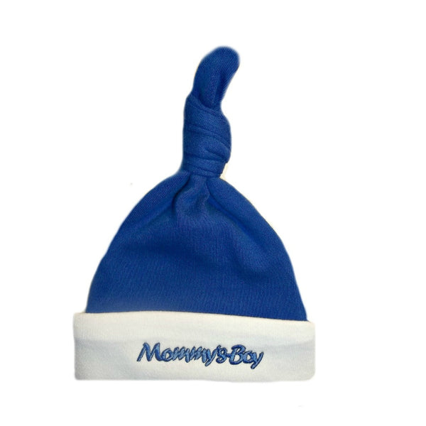 Mommy's Boy Knotted Baby Hat