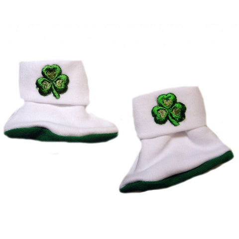 Unisex Baby Luck of the Irish Booties Sized For Preemie and Newborn Babies