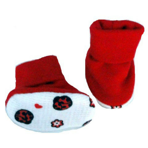 Baby Girls' Ladybugs & Hearts Booties Sized for Preemie and Newborn Babies