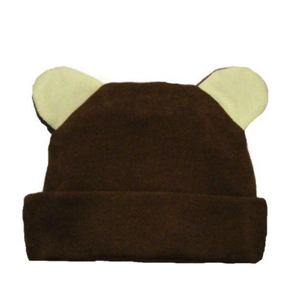 Baby Boys' Brown Bear Hat with Ears!Perfect for your little baby boy. Comes in Preemie to Newborn Sizes