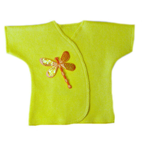 Baby Girls' Orange Dragonfly Shirt Sized For Preemie and Newborn Babies