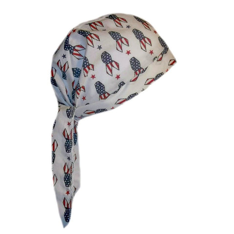 USA Patriotic Hospital Scrub Cap for Surgeons, Doctors and Nurses