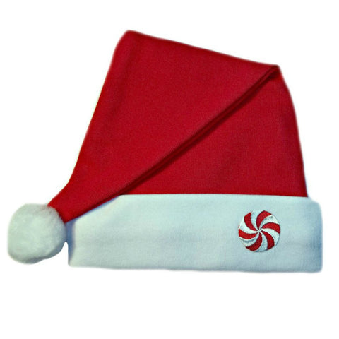 Unisex Baby Santa Hat with Peppermint Candy Sized For Preemie and Newborn Babies and Toddlers