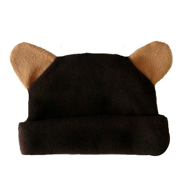 Baby Boys' Fleece Brown Bear Hat with Ears Sized for Preemie and Newborn Babies