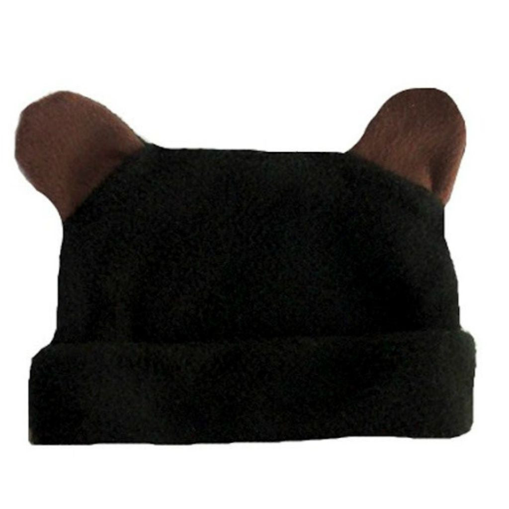 cb7f43844db Baby Boys  Fleece Black Bear Hat with Ears Sized for Preemie and Newborn  Babies