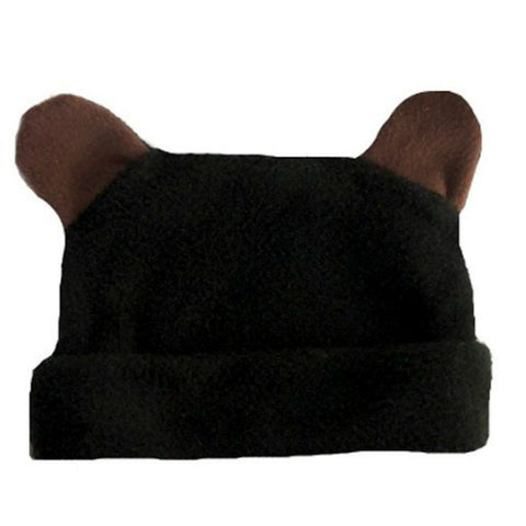 Baby Boys' Fleece Black Bear Hat with Ears Sized for Preemie and Newborn Babies