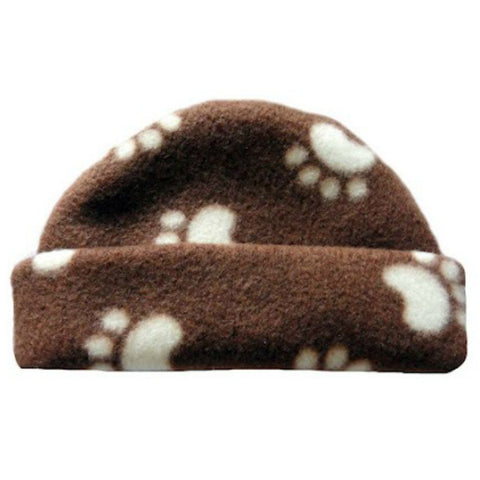 Unisex Baby Puppy Paws Fleece Hat Sized For Preemie and Newborn Babies
