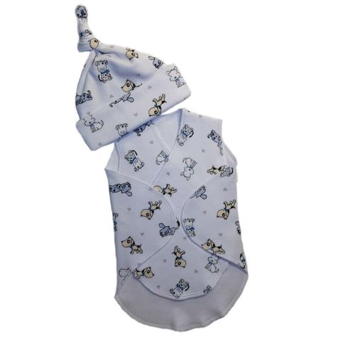 Baby Boys Puppy Friends Preemie NICU Snuggler Wrap