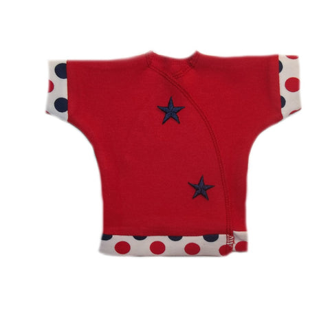 USA Red Unisex Baby Shirt with Blue Stars