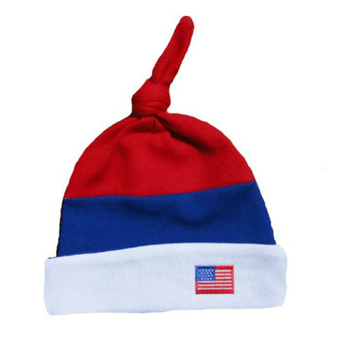 Newborn and Preemie Unisex Baby USA Flag Hat
