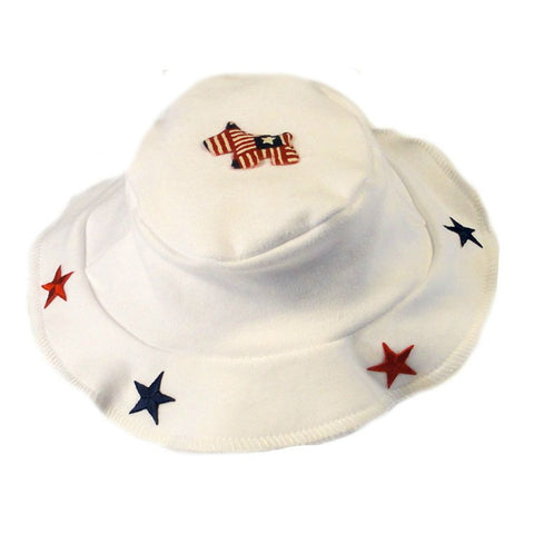 Unisex Babys' Red, White & Blue U.S.A. Sun Hat Sized For Preemie, Newborn Babies And Toddlers