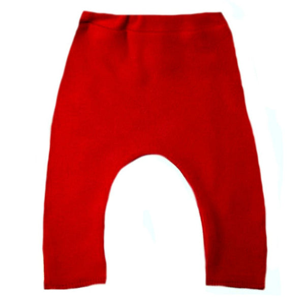 Solid Color Unisex Baby Pants with Elastic Waist