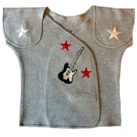 Baby Boys' Gray Rock Star NICU Shirt Sized for Preemie and Newborn Babies