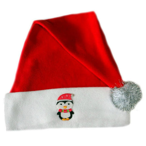 Unisex Baby Happy Penquin Santa Hat Sized for Preemie and Newborn Babies