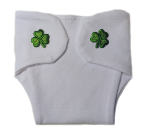 Unisex Baby Green Shamrock Baby Diaper Cover Sized for Preemie and Newborn Babies