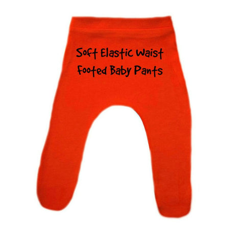 Toddler, Newborn and Preemie Cotton Knit Footed Pants