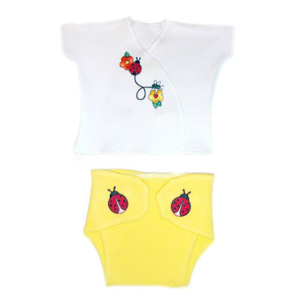 Baby Girl Summertime Diaper Set for Preemie, Premature Babies and Newborns!