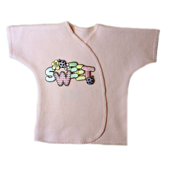 Newborn and Preemie Baby Girl Sweet Pink Shirt