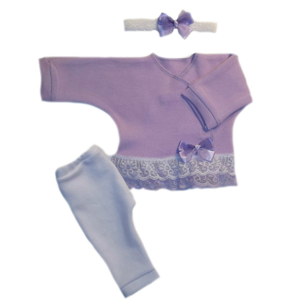 Baby Girls' Sweet Lavender Clothing Set