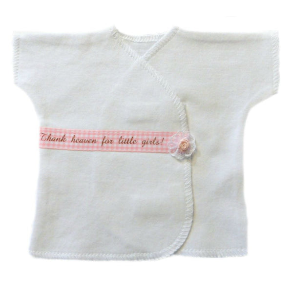 Thank Heaven for Little Girls Baby T-Shirt Sized For Preemie and Newborn Babies