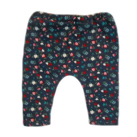 Baby Girl Navy Blue Leggings with Tiny Tulips