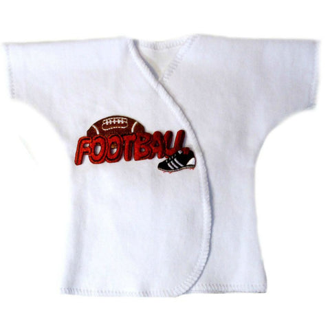 Baby Boys' Touch Down Football Shirt Sized For Preemie and Newborn Babies