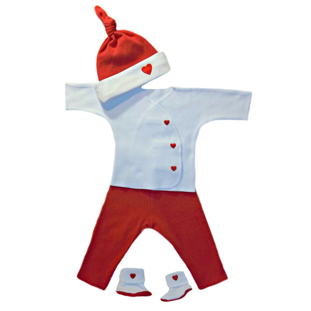 90ba7de8196 Newborn and Preemie Unisex Baby Valentine s Day Clothing Outfit