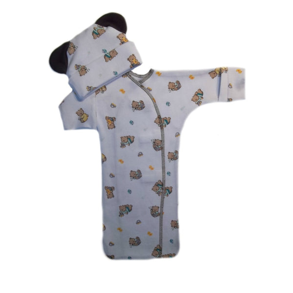 Baby Boys' Teddy Bear and Toys Bunting Gown and Hat