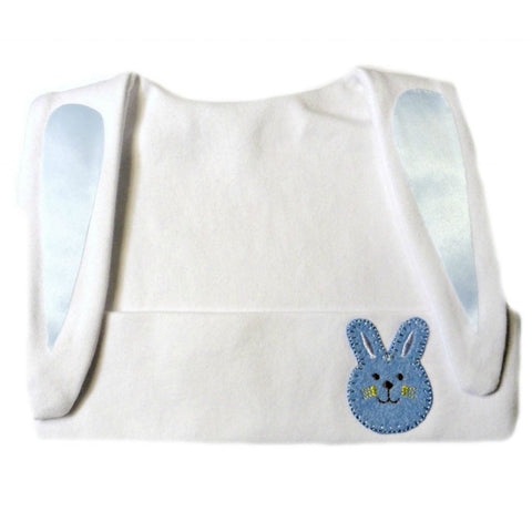 Baby Boys' White Bunny Hat with Blue Bunny Face Sized For Preemie and Newborn Babies And Toddlers