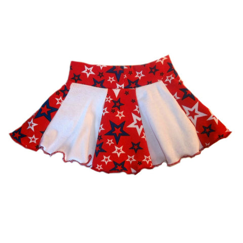 Baby Girls' Red, White Blue Star USA Skirt for Preemie, Newborn and Toddlers