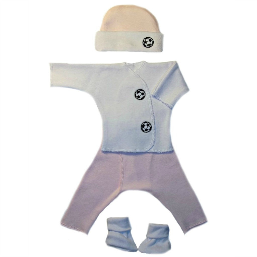 b648f9d409a Baby Girls  Pink Soccer Ball Clothing Set Sized For Preemie and Newborn  Babies