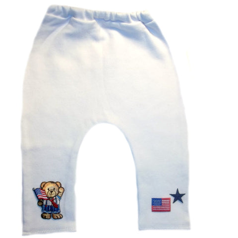 Baby Boys' USA Teddy Bear Pants