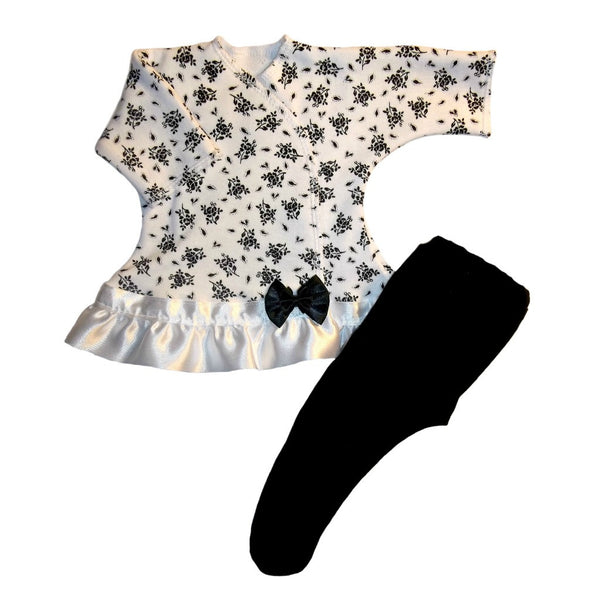 Baby Girls' Pretty Black Flowers Sassy Dress