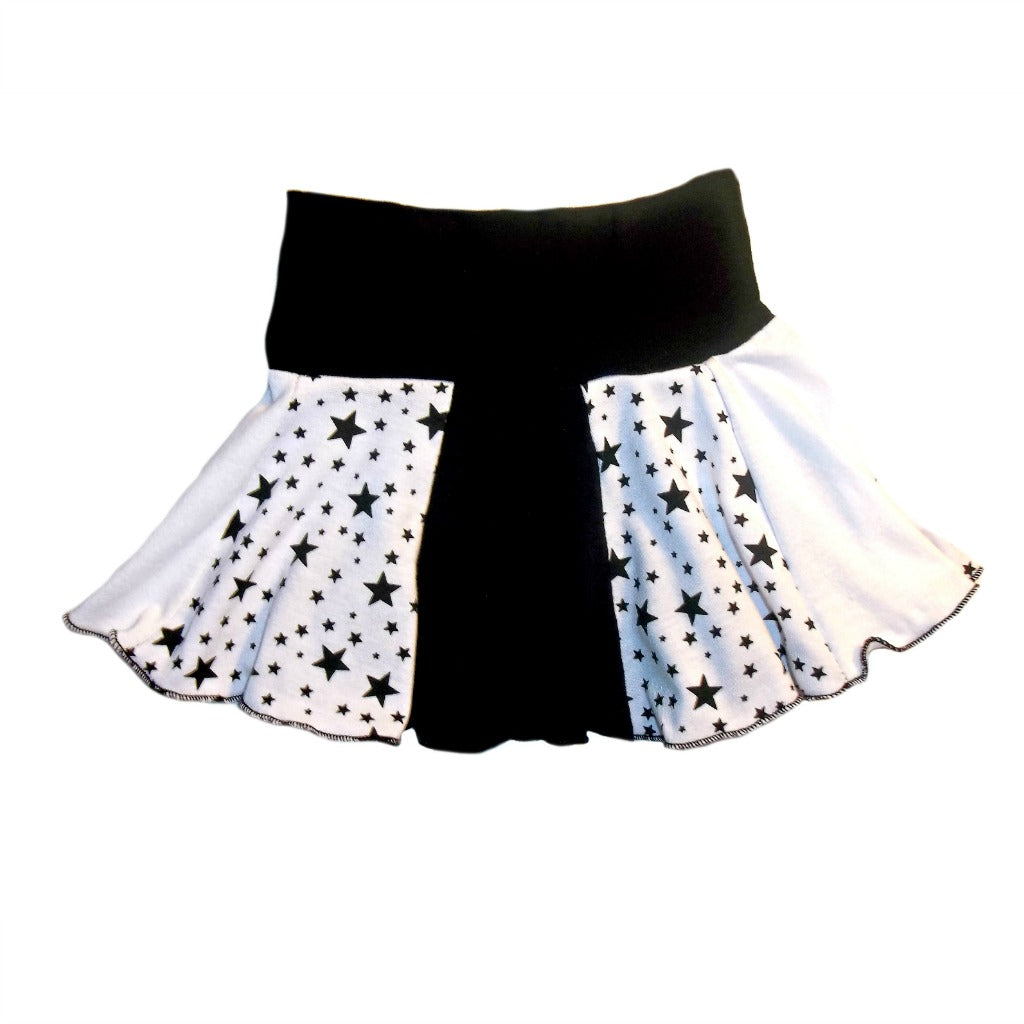 fd92705a35 Baby Girls' White and Black Skirt with Stars   Jacqui's Preemie Pride