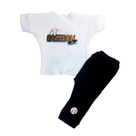 Baby Boys' Play Ball Baseball Clothing Set Sized For Preemie and Newborn Babies