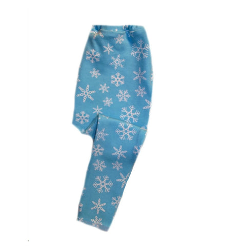 Blue Snowflake Winter Baby Leggings