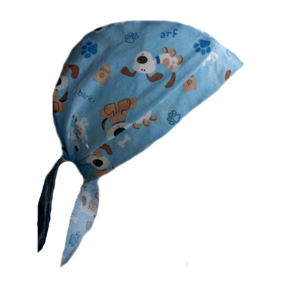 Blue Surgical Scrub Puppy Cap for Doctors and Nurses