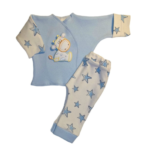 Baby Boys' Cow and Stars 2 Piece Clothing Set