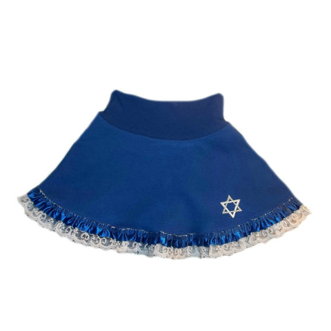 Baby Girls' Blue Star of David Skirt for Preemie Newborn and Toddlers