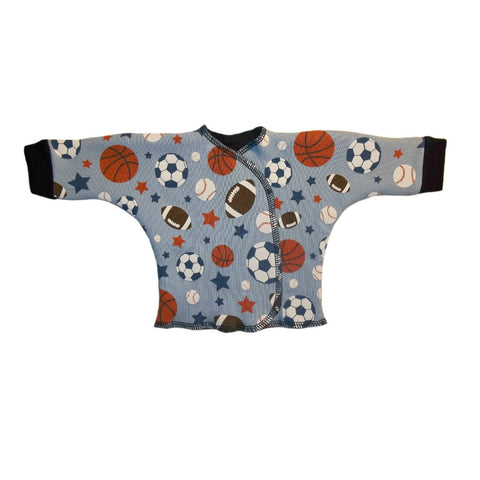 Baby Boys' Blue Sports Balls Long Sleeve Shirt