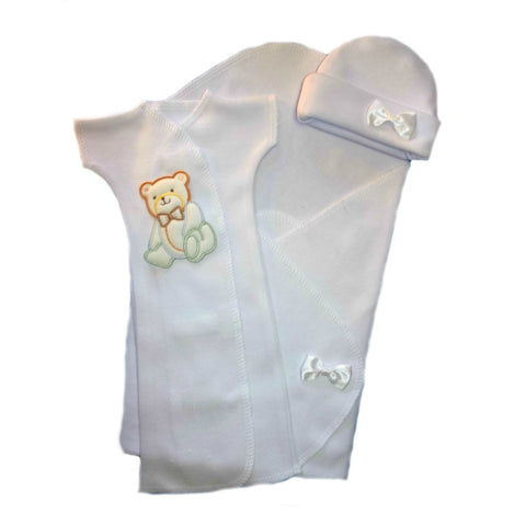 Baby Boys' Handsome Bear Burial Gown Set