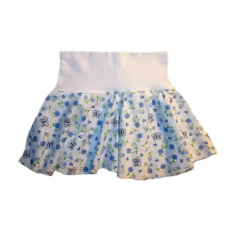 Baby Girls' Blue Butterflies and Flowers Skirt