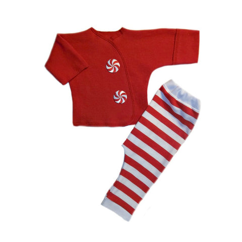 Peppermint Stripes Christmas Baby Clothing Outfit