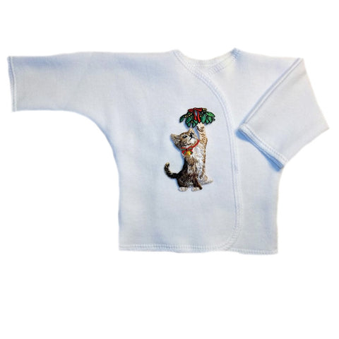 Newborn and Preemie Unisex Baby Kitten's Christmas Surprise Long Sleeve Shirt