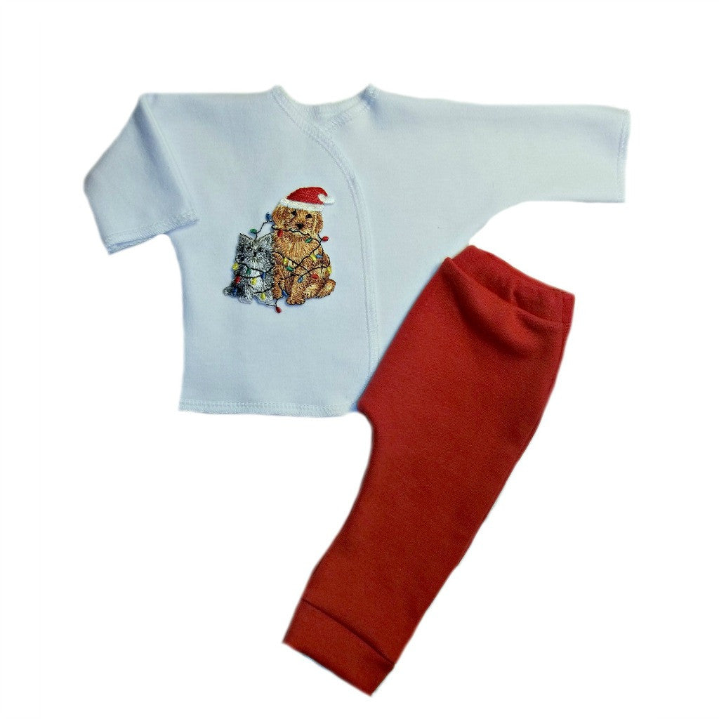 b149f372ab1ee Unisex Baby Christmas Friends Clothing Set Sized for Preemie and Newborn  Babies