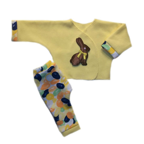 Chocolate Easter Bunny Baby Shirt and Jelly Bean Pants